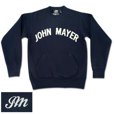 John Mayer - Navy Crewneck Sweatshirt with Pocket