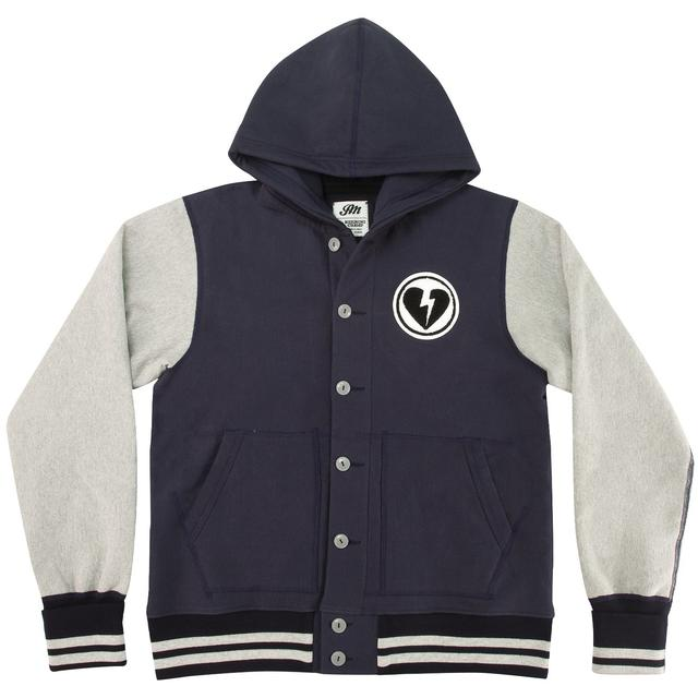 John Mayer Reigning Champ Varsity Fleece Jacket with Hood