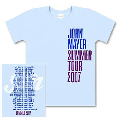 John Mayer 2007 Girls? Summer Tour T-Shirt