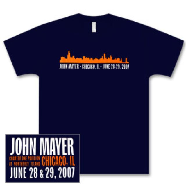 John Mayer Chicago Summer 2007 T-Shirt