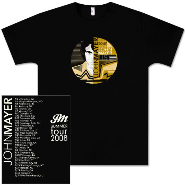 John Mayer - Circle Logo Tour T-Shirt 2008