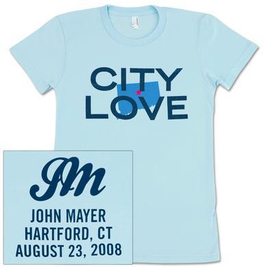 John Mayer - CITY LOVE (Hartford) Girls T-Shirt