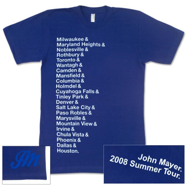 John Mayer - Women's Summer 2008 Cities T-Shirt