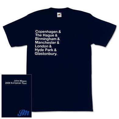 John Mayer - 2008 European Cities T-Shirt