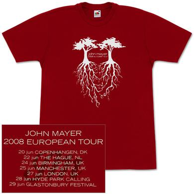 John Mayer - 2008 European Tour T-Shirt