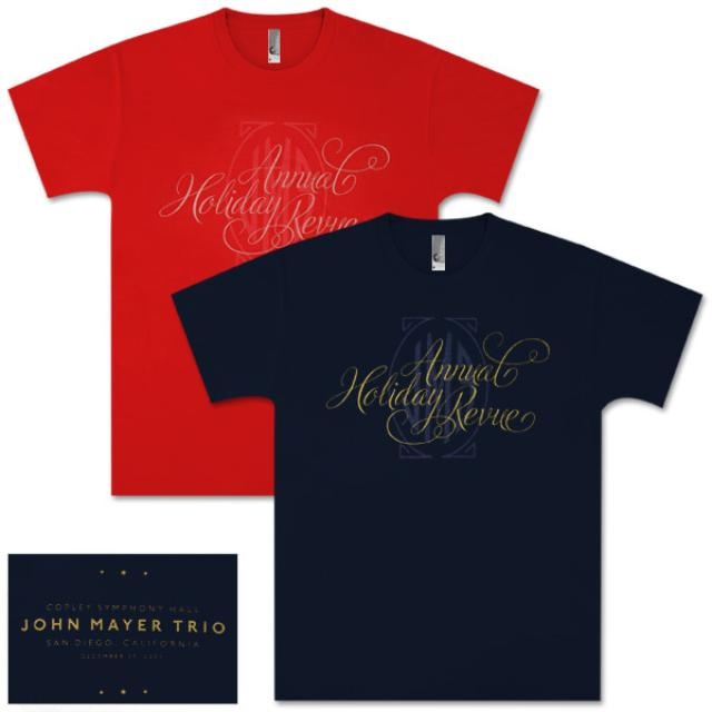 12/29/09 Annual Holiday Blues Revue Unisex John Mayer T-Shirt