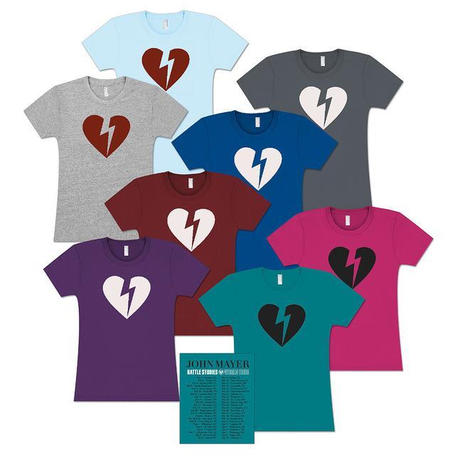 John Mayer Womens 2010 Battle Studies US Tour T-Shirt
