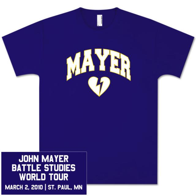 Unisex St. Paul, MN John Mayer Tour T-Shirt