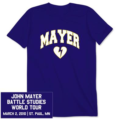 Unisex St. Paul, MN John Mayer Tour T-Shirt