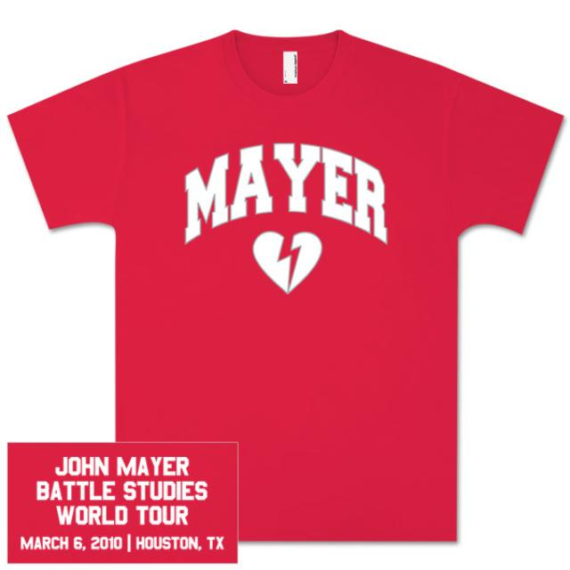 Unisex Houston, TX John Mayer Tour T-Shirt