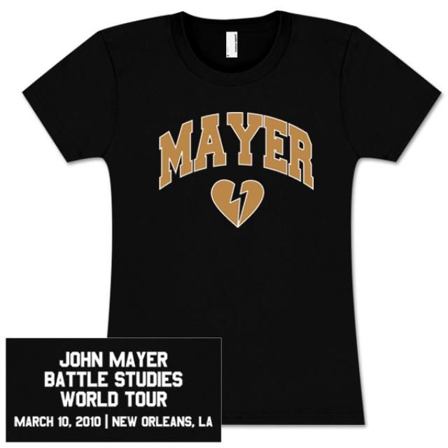 John Mayer Womens New Orleans, LA Tour T-shirt
