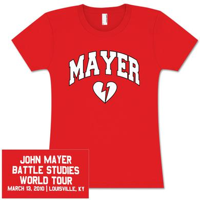 Womens Louisville, KY John Mayer Tour T-shirt