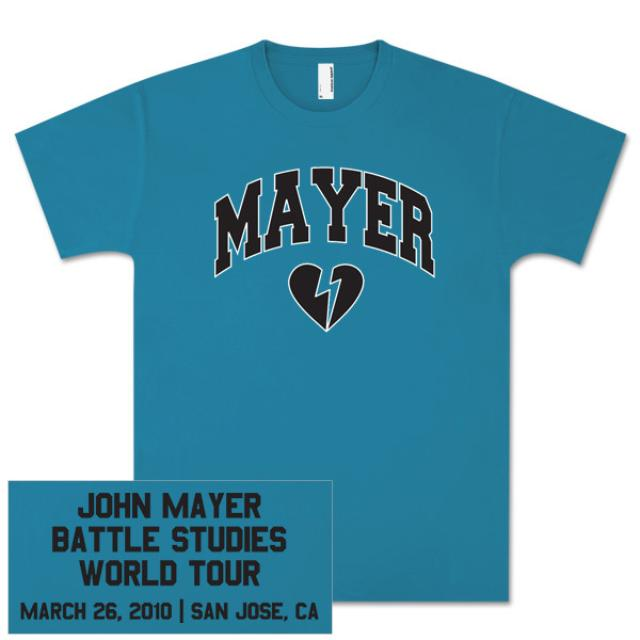 John Mayer Unisex San Jose, CA Event T-shirt