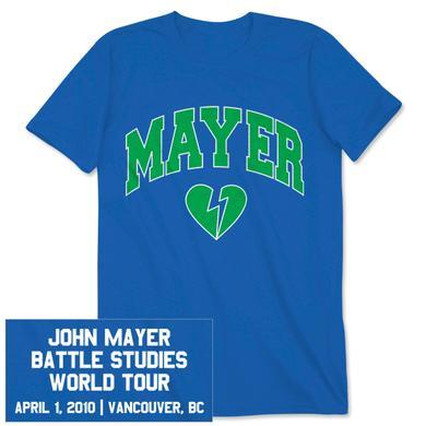 John Mayer Unisex Vancouver Event T-Shirt