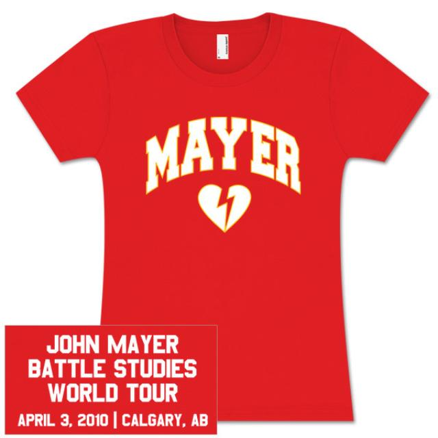 John Mayer Womens Calgary Event T-Shirt