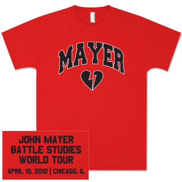 John Mayer Unisex Chicago, IL Event Shirt