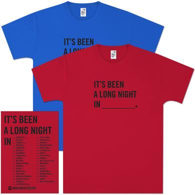 """John Mayer """"It's Been A Long Night In..."""" Tour Shirt"""