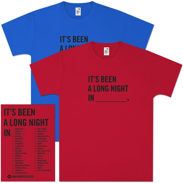 "John Mayer ""It's Been A Long Night In..."" Tour Shirt"