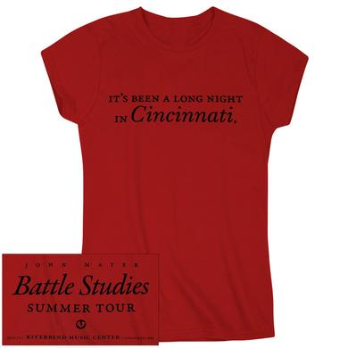 "John Mayer ""It's Been A Long Night In Cincinnati"" Ladies Tee"