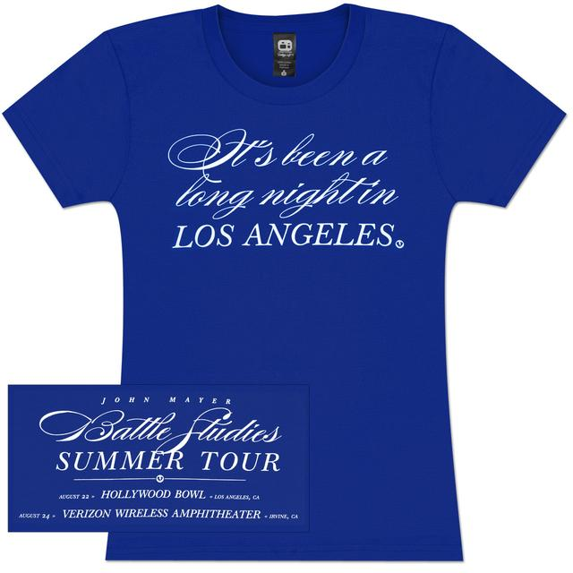 "John Mayer ""It's Been A Long Night In Los Angeles"" Womens Tour Tee"