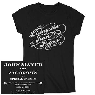 "John Mayer ""Livingston Town Proper"" Ladies Event T-shirt"