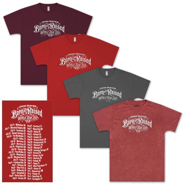 John Mayer Born and Raised  Tour T-shirt
