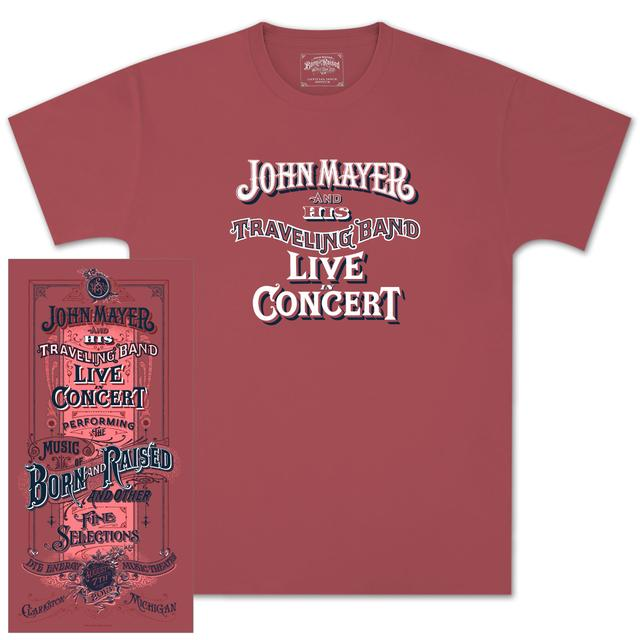 John Mayer Clarkston, MI Event T-Shirt