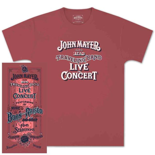 John Mayer Noblesville, IN Event T-shirt