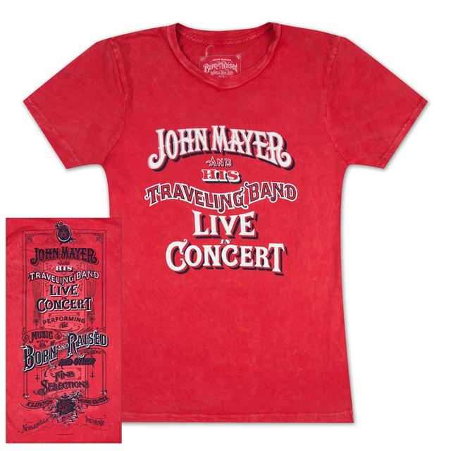 John Mayer Noblesville, IN Ladies Event T-Shirt