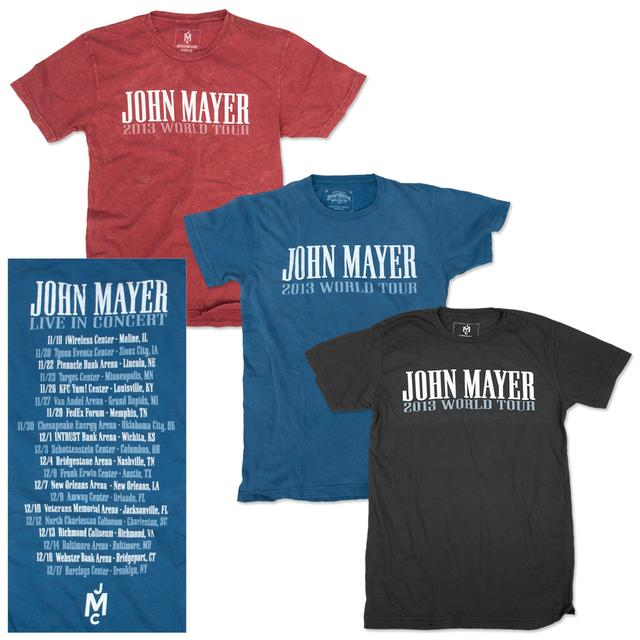 John Mayer 2013 World Tour T-shirt