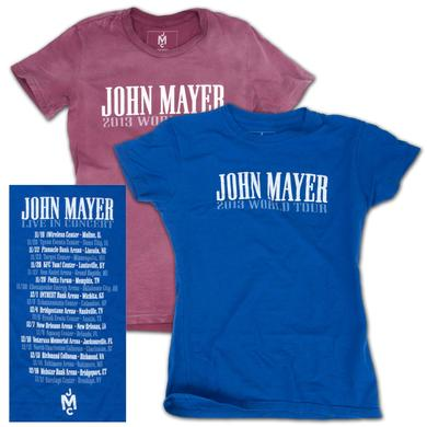 John Mayer Ladies 2013 World Tour T-shirt
