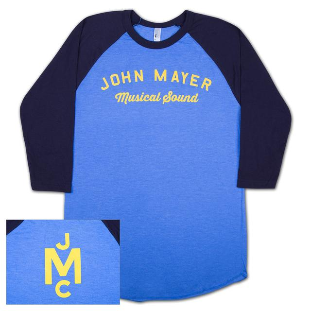 John Mayer Musical Sound Raglan-Yellow Print