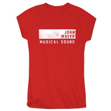 John Mayer Womens Musical Sound Athletic T-Shirt