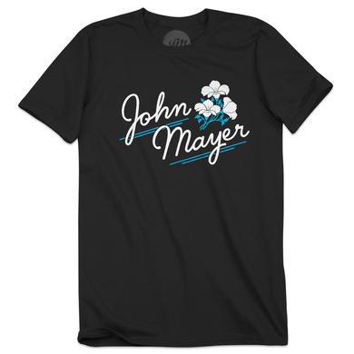 John Mayer White and Blue Flower T-Shirt