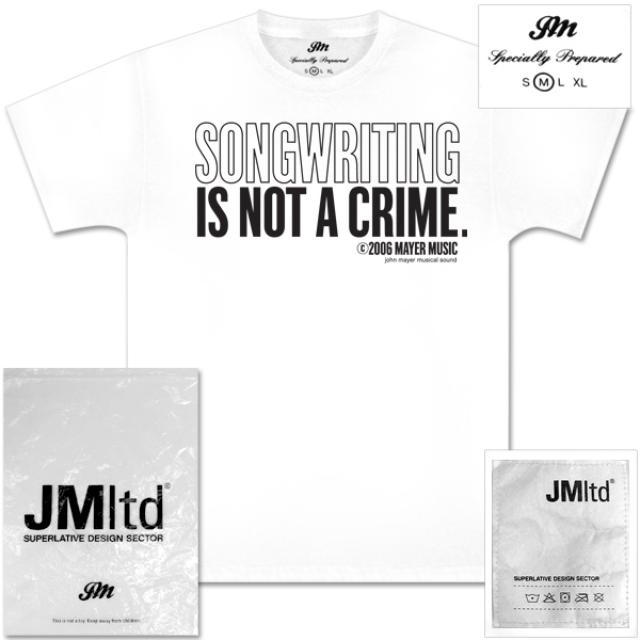 John Mayer - Songwriting is not a Crime T-Shirt