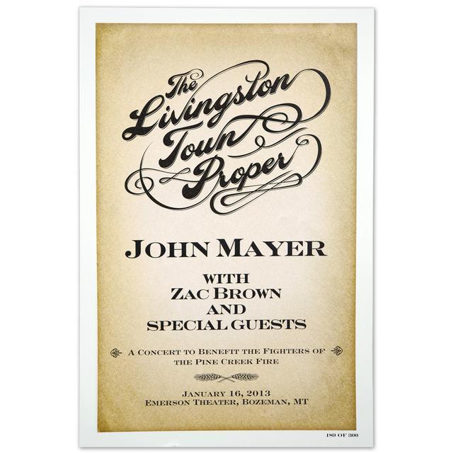 John Mayer The Livingston Town Proper Event Poster