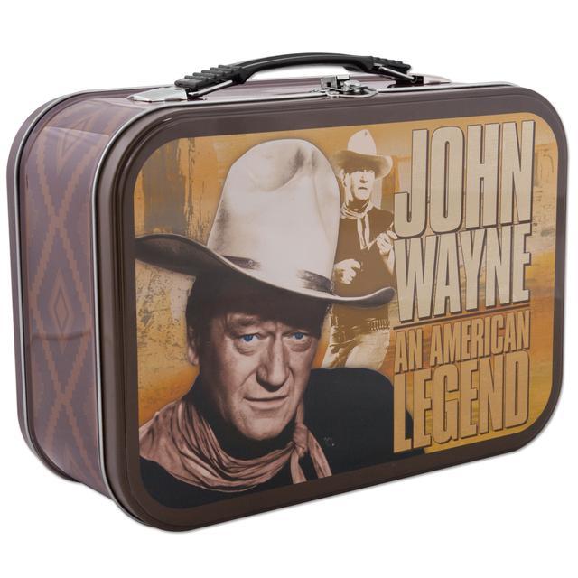 John Wayne American Legend Tin Tote