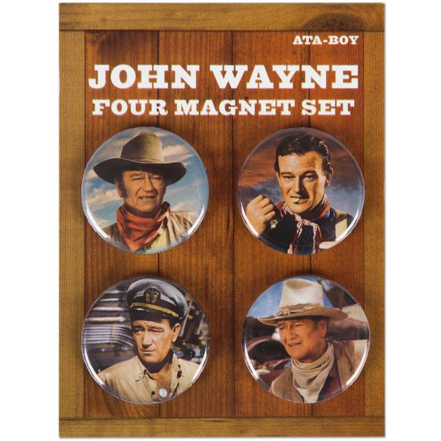 John Wayne Round Photos Magnet Set