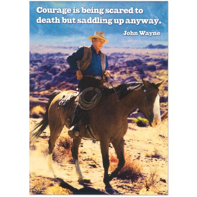 "John Wayne ""Courage Is"" Magnet"