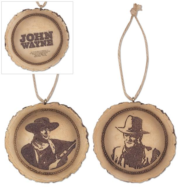 John Wayne Set of 2 Disc Ornaments