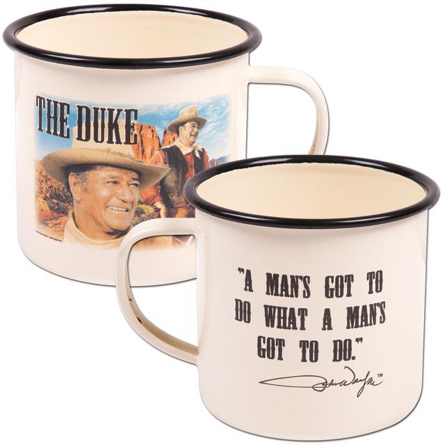 John Wayne Enamelware Mug
