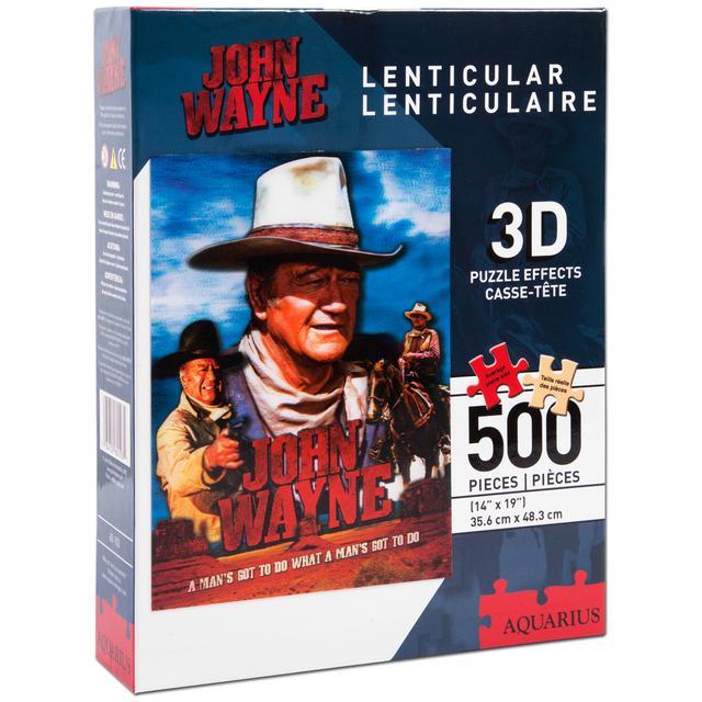 John Wayne Lenticular 3D 500 Piece Puzzle