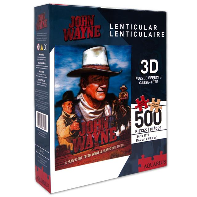 John Wayne 500pc Lenticular Puzzle