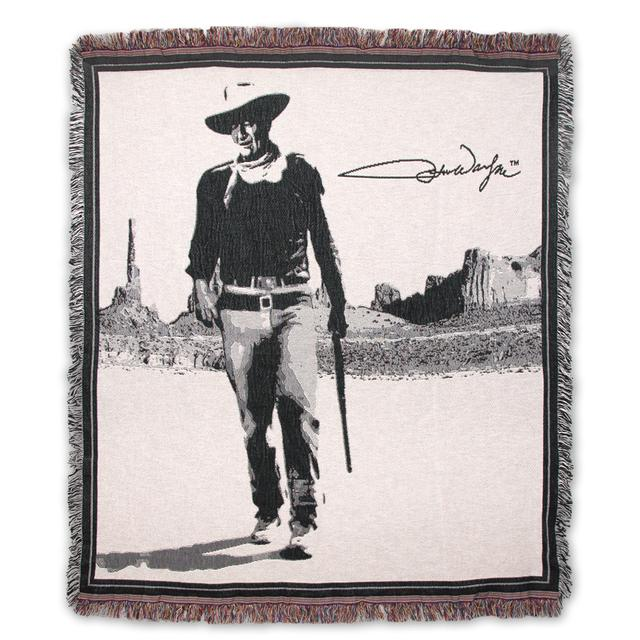 John Wayne Tapestry Throw Blanket