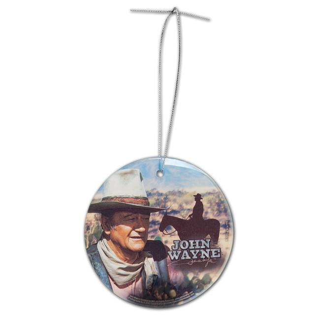 "John Wayne ""The Duke"" Hanging Glass Ornament"
