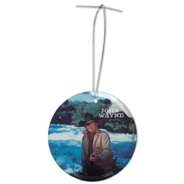 "John Wayne ""Rooster Cogburn"" Glass Ornament"