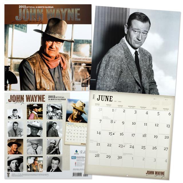 John Wayne 2015 Wall Calendar