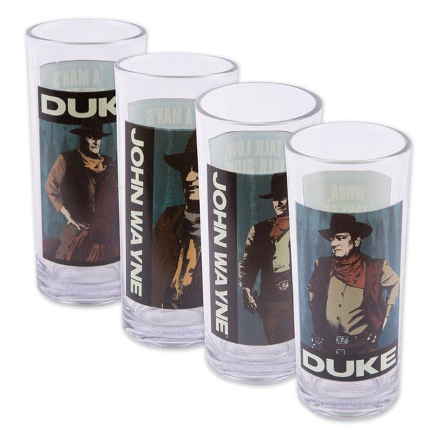 John Wayne 10oz Glasses Set of 4