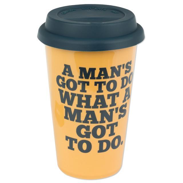 John Wayne 12 oz. Double Wall Ceramic Travel Mug
