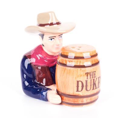 John Wayne The Duke Barrel Ceramic Magnetic Salt and Pepper Shaker